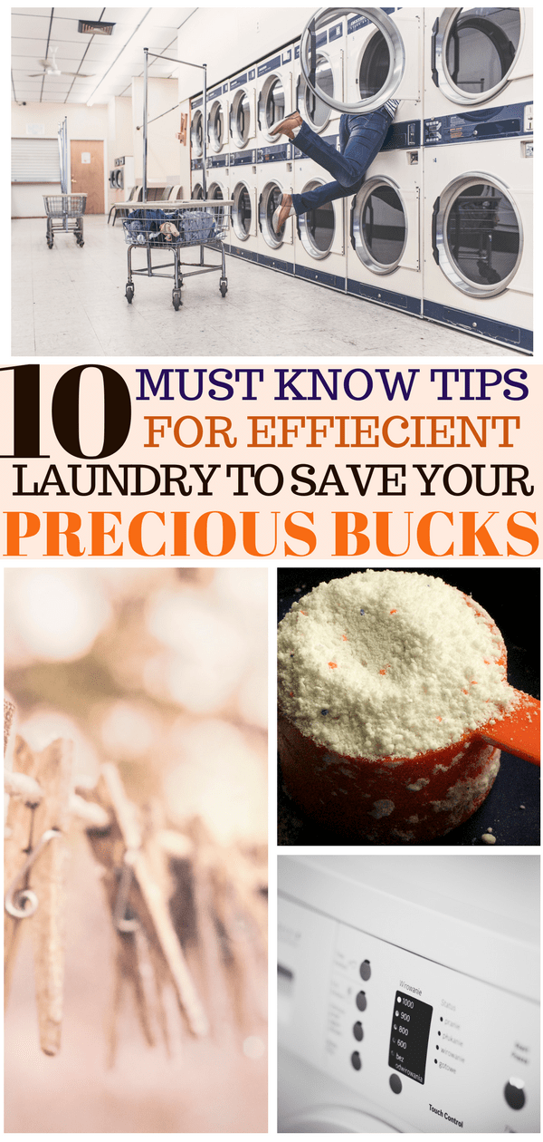 Laundry hacks to save money pinterest pin
