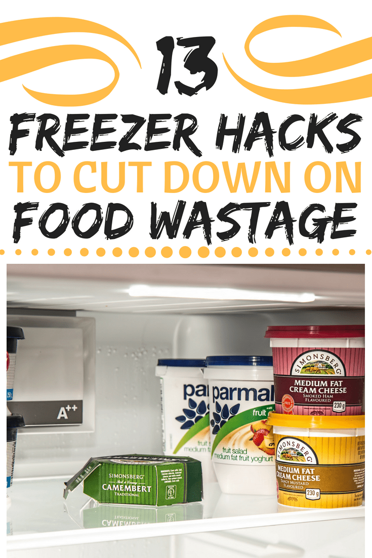 freezer hacks to reduce food waste pin