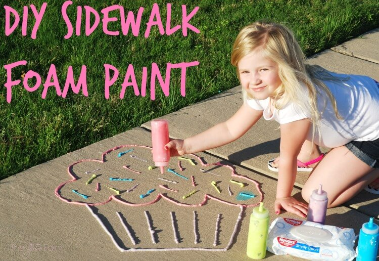 sidewalk foam paint