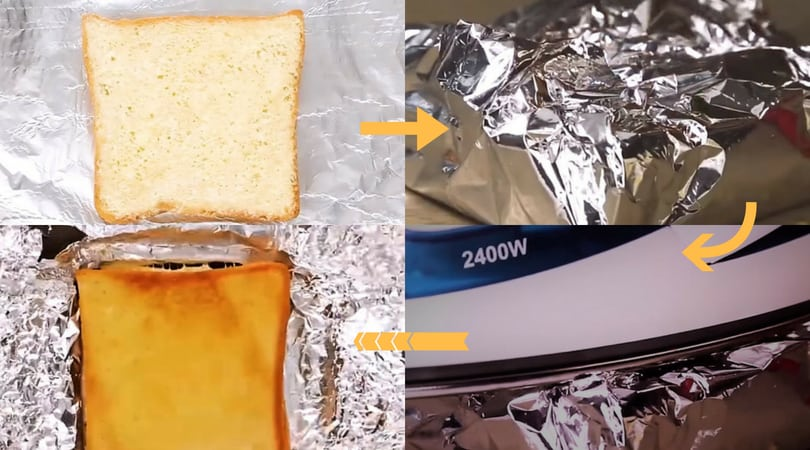 Toast sandwich using iron