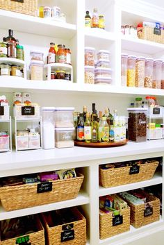 Kitchen organization hacks - categorizing the cabinets