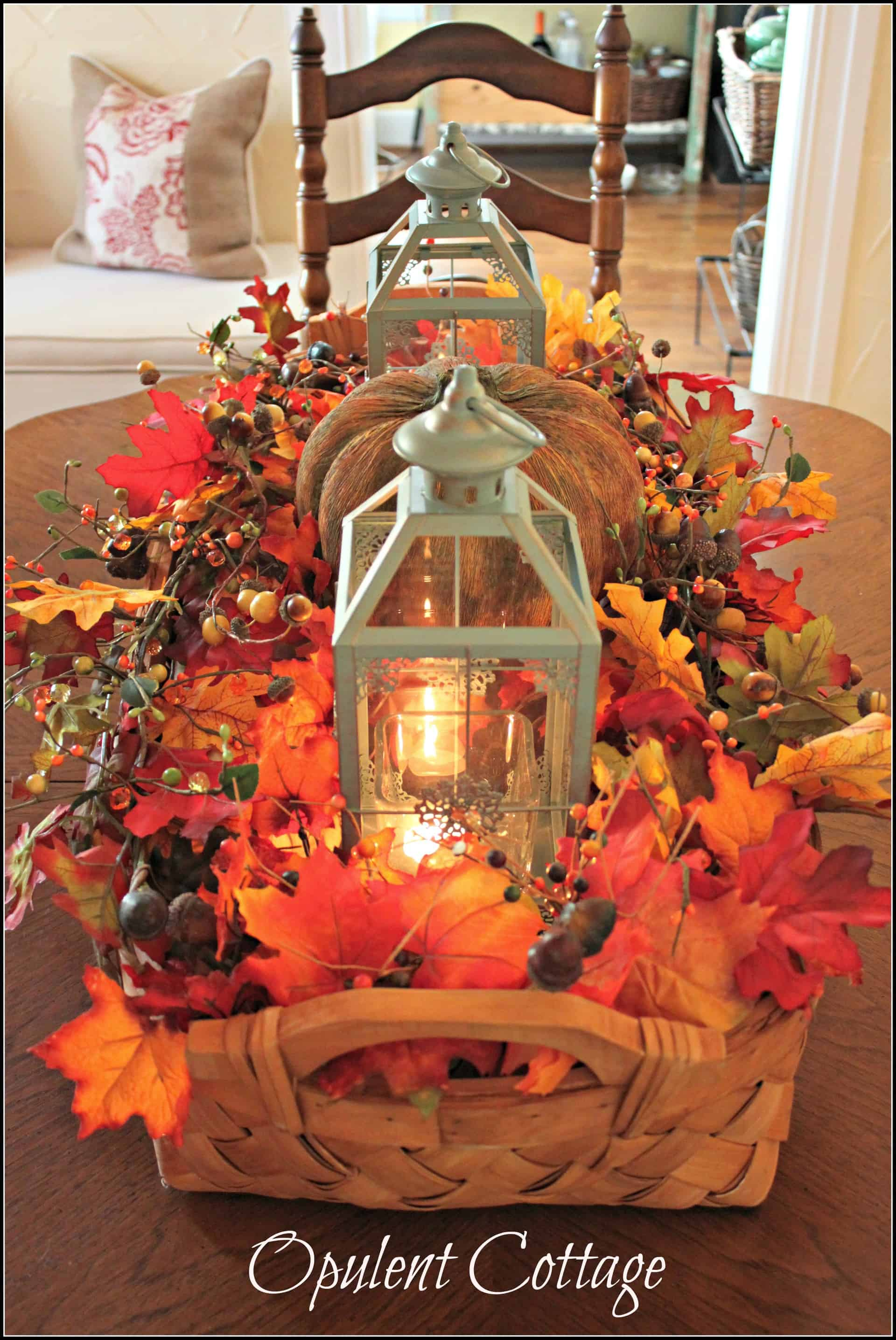 Fall basket centerpiece