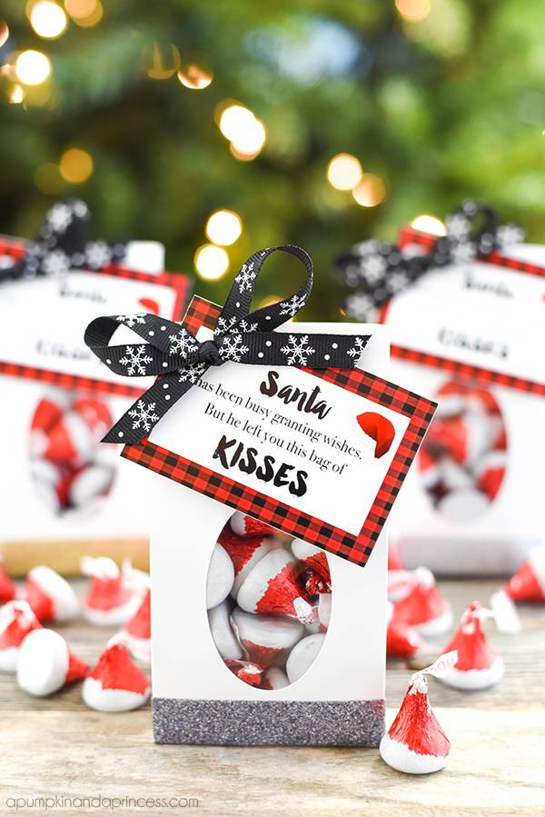 Santa Kisses Treat Bags