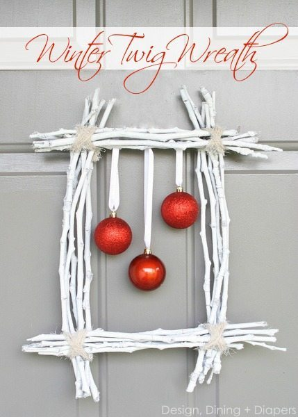 Christmas decoration ideas - Winter-Twig-Wreath-by-Design-Dining-+-Diapers
