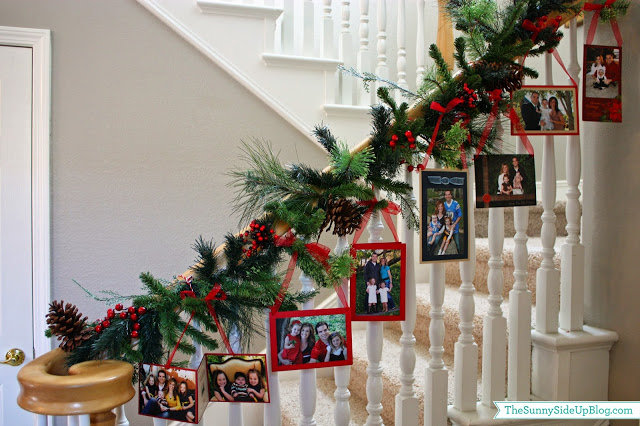 Diy Christmas decoration ideas - christmas photo garland