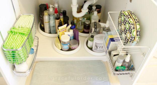 Bathroom organization ideas -under the sink storage