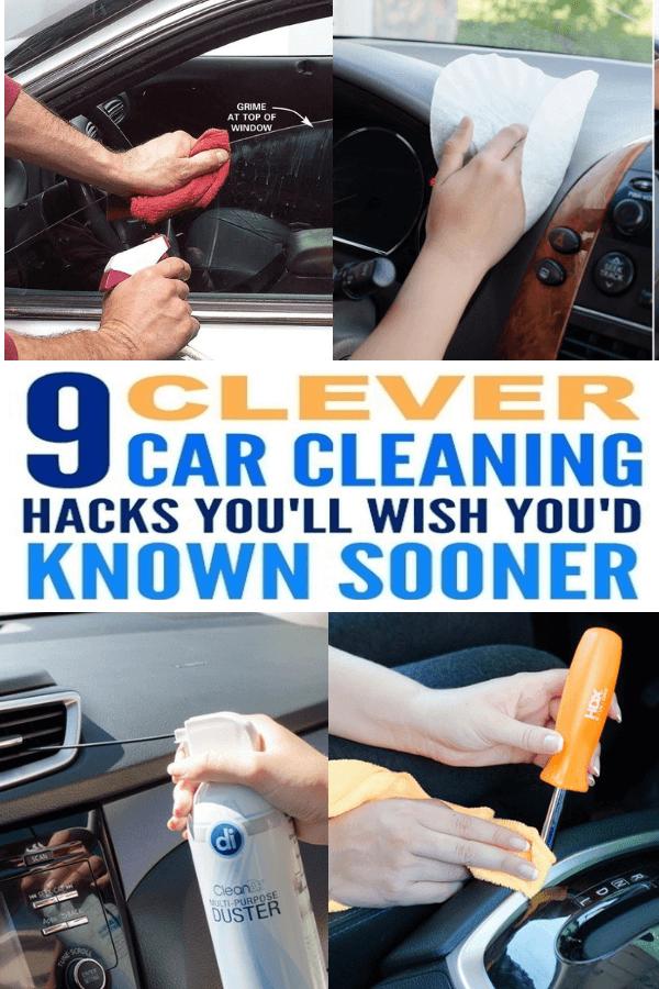 9 brilliant car cleaning hacks