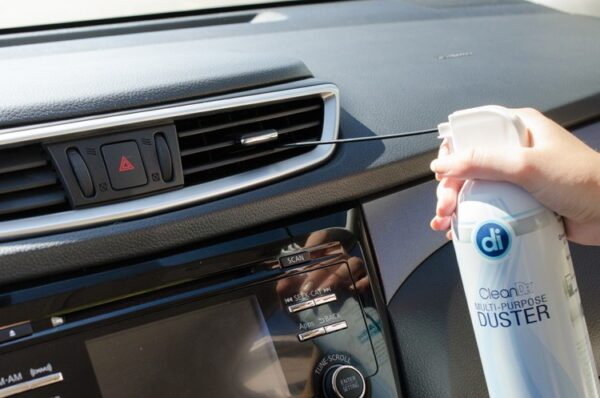 compressed air car cleaning hacks