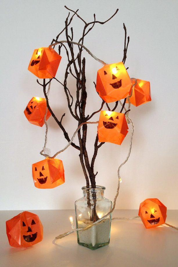 DIY Halloween origami lights