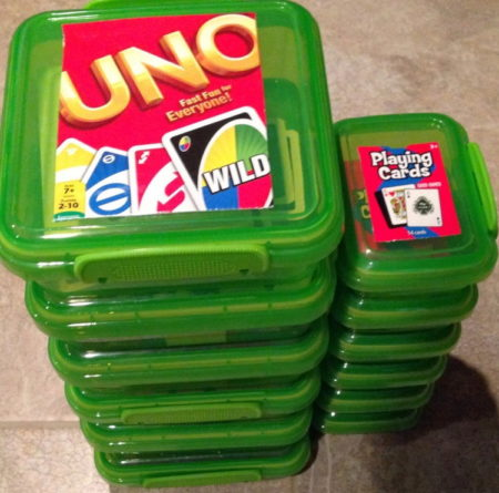 keep game pieces and cards together
