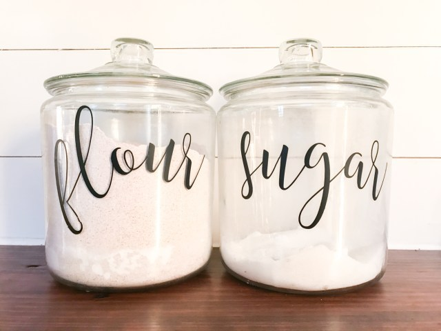Pantry Organization hack glass containers