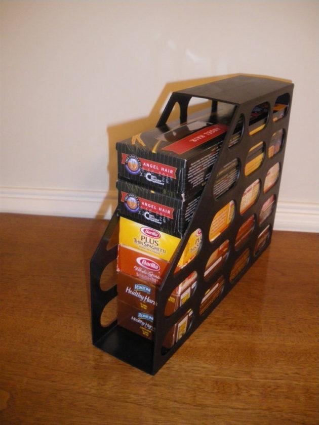 magazine holders for pantry organization
