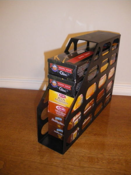 magazine holders for pantry organization