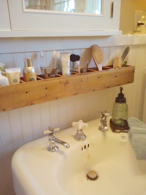 Bathroom organization ideas- over the sink storage organization