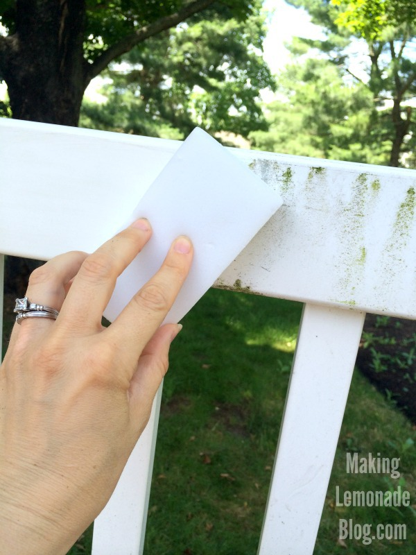 magic eraser hacks cleaning vinyl fences