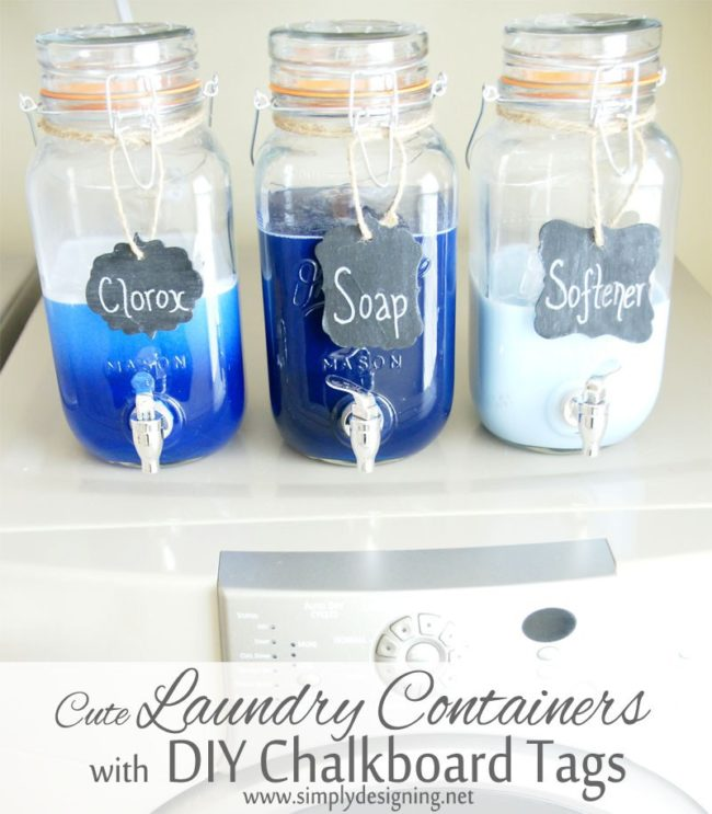 These 11 Laundry Room Hacks Are LIFE-CHANGING! I love the organization ideas as well as the cute little labels!