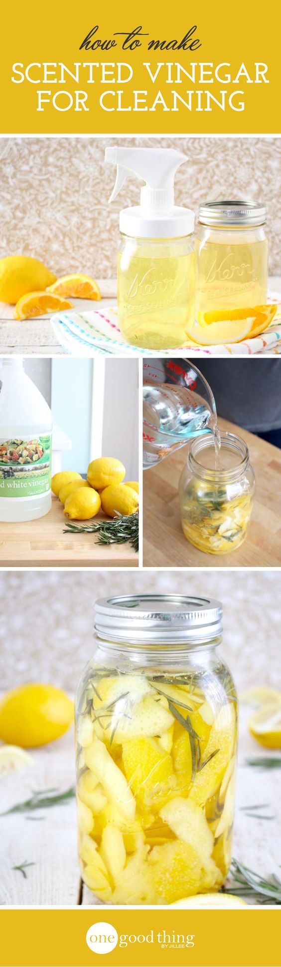 cleaning tips -Scented Cleaning Vinegar