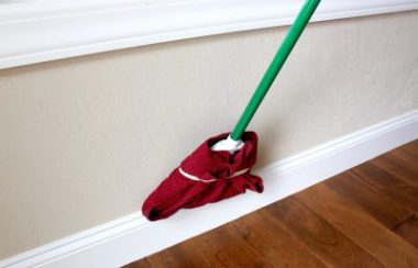 Clean Your Baseboards With A Broom - time saving cleaning hack