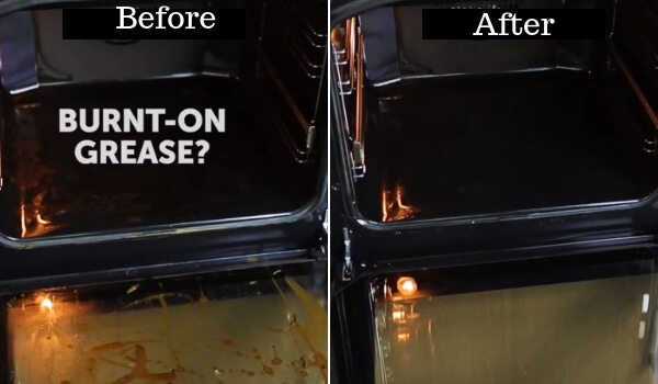 unusual cleaning hacks- cleaning burnt on grease