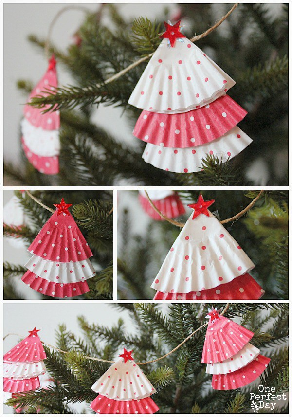 christmas decoration ideas - cupcake liner garland