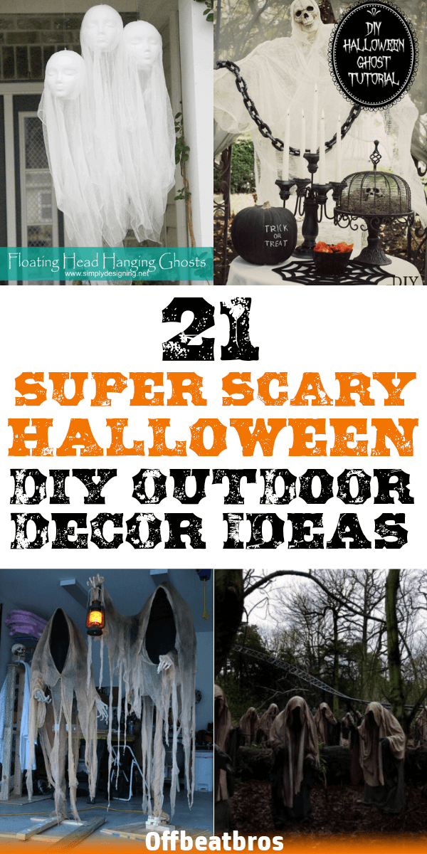 21 Spooky Awesome Diy Halloween Outdoor Decorations