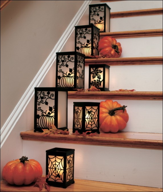51 Stunning Staircase Design Ideas: 30 Beautiful And Easy Fall Staircase Decor Ideas