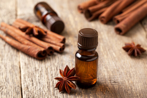 Cinnamon and clove oils