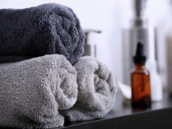 Dark towels
