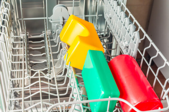 Put toys in the dishwasher for cleaning