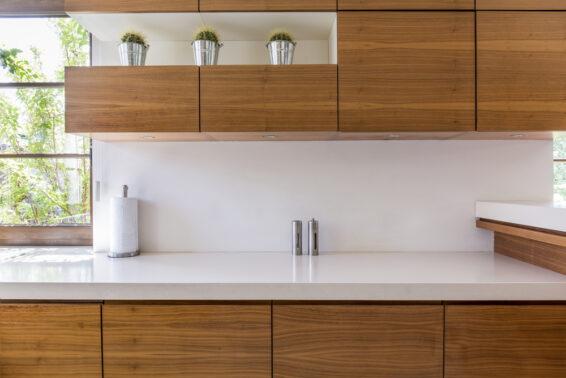White laminate countertop