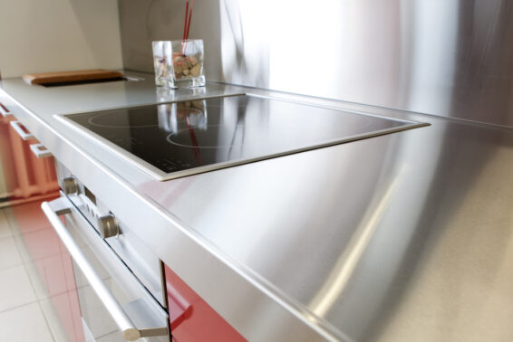 Steel countertop