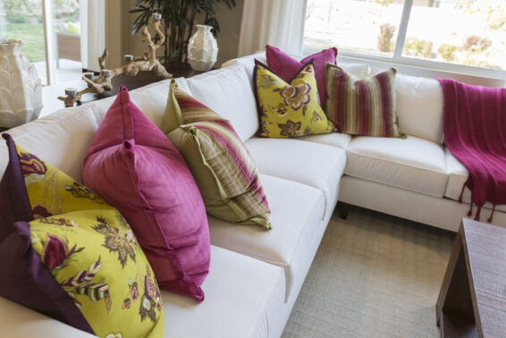 Get rid of excessive throw pillows